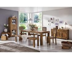 Massivum Palison Tischgruppe Stark, Holz, natur, 90 x 200 x 77 cm