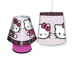 crazygadgetâ ® Hello Kitty Prime Lampe und Schatten Set Wohnzimmer Schlafzimmer Hall Beleuchtung Tisch Lampe Dekoration Geschenk für Weihnachten und Geburtstag