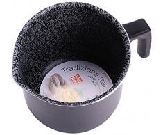 Alluflon Tradition Italien Milchtopf, Aluminium, schwarz, 12 cm