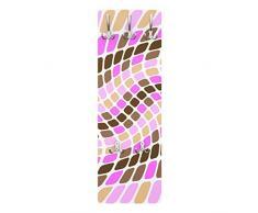 Apalis 78726 Wandgarderobe Dancing Squares | Design Garderobe Garderobenpaneel Kleiderhaken Flurgarderobe Hakenleiste Holz Standgarderobe Hängegarderobe | 139x46cm