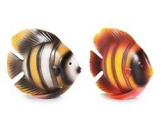 Heitmann Deco - Fische aus Porzellan 2er-Set - Deko für Frühling Sommer - für Haus und Garten - Tischdeko maritim