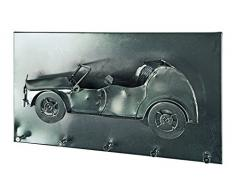 Haku-Möbel Wandgarderobe, 10 x 35 x H: 20 cm, schwarz nickel