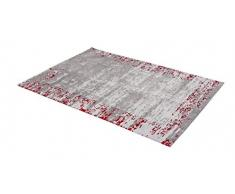 ASTRA 6805054161010 Webteppich Teramo in verschiedenen Farben und Größen erhältlich, Teppich, Polyester, bordüre rot, 140 x 200 x 1,3 cm