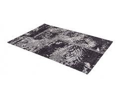 ASTRA Webteppich Teramo in verschiedenen Farben und Größen erhältlich, Teppich, Polyester, patchwork schwarz, 170 x 240 x 1,3 cm