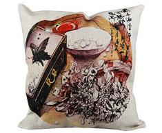 Sterxy Leinen Antik Schminktisch Oriental Kissen Bezug, Baumwolle-Mischgewebe, Mehrfarbig, 18Â x 18