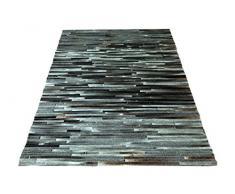 SIT-Möbel 1021-05 Teppich This und That, 200 x 300 cm, gefärbtes Kuhfell, dessin dunkelgrau