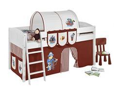 Lilokids IDA4106KW-PIRAT-BRAUN-S Kinderbett, Holz, pirat braun, 208 x 98 x 113 cm