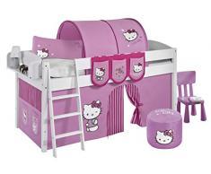Lilokids IDA4105KW-HELLOKITTY-R Kinderbett, Holz, hello kittty rosa, 208 x 98 x 113 cm