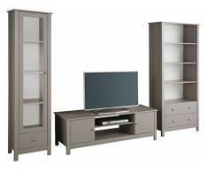 LifeStyleDesign 7012040 Wohnwand, Holz, grau, 282 x 45 x 180 cm