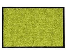 andiamo Schmutzfangmatte Fußabtreter Türmatte Fußmatte Sauberlaufmatte Schmutzabstreifer Türvorleger - Eingangsbereich In/Outdoor - rutschhemmend waschbar grün Polypropylen- 90x150 cm - 5 mm Höhe