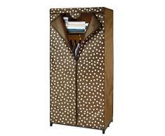 Wenko 86503500 Kleiderschrank mit Ablage Pretty Woman - Kleideraufbewahrung, Polyester, braun, 50 x 75 x 160 cm