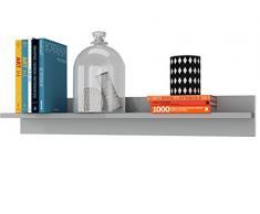 LifeStyleDesign Wandboard Manning 90 cm, Holz, Grau, 90 x 15 x 15 cm