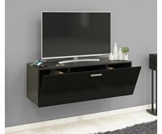 VCM TV Wand Board Schrank Tisch Fernseh Lowboard Wohnwand Regal Wandschrank Hängend Schwarz 40 x 115 x 36 cm Fernso