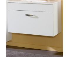 Held Möbel 738.2118 Capri Waschtisch, 1 Metall-Auszug mit Reling, inklusive Mineralgussbecken, 100 x 56 x 47 cm, weiß