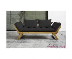 Karup 140114734 Bebop Schlafsofa, Stoff, grau, 206 x 80 x 75 cm