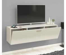 VCM TV Wand Board Schrank Tisch Fernsehtisch Lowboard Wohnwand Regal Wandschrank Hängend Weiß 40 x 140 x 36 cm Fernso