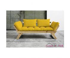 KARUP 140114748 Bebop Schlafsofa, Stoff, amarillo, 206 x 80 x 75 cm