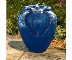 Peaktop Dekor Terrasse Garten Rot Wasser Pumpe Brunnen Wasservorr. YG0036AZ-EU
