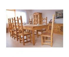 Möbelkultura HAC-047set4 Essgruppe Hacienda Esstisch und 8 Stühle, 200 cm