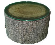 MeroWings 4260190319054 Forest Heavyweight Coffee Table Outdoor Beistelltisch, Durchmesser 60 x 35 cm