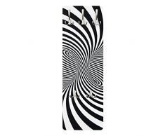Apalis 79238 Wandgarderobe Optiktornado | Design Garderobe Garderobenpaneel Kleiderhaken Flurgarderobe Hakenleiste Holz Standgarderobe Hängegarderobe | 139x46cm