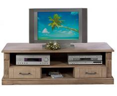 BFK Möbel Collection 705013 Lowboard Fernsehtisch, 141 x 45 x 45 cm, eiche teilmassiv, castellfarbig