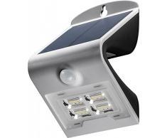 Goobay LED Solar-Wandleuchte mit Bewegungsmelder 2W, Glas, Silber, 2 Watt