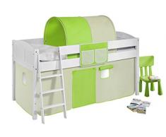 Lilokids IDA4106KW-GRUEN-BEIGE Kinderbett, Holz, grün / beige, 208 x 98 x 113 cm