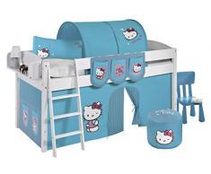 Lilokids IDA4105KW-HELLOKITTY-T Kinderbett, Holz, hello kitty türkis, 208 x 98 x 113 cm