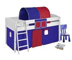Lilokids IDA4106KW-BLAU-ROT Kinderbett, Holz, blau / rot, 208 x 98 x 113 cm