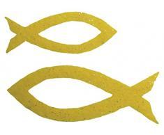 Petras Bastel News Streudeko, Fliz, gelb, 18 x 12 x 5 cm