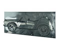 Haku-Möbel Wandgarderobe, 18 x 80 x H: 35 cm, schwarz nickel