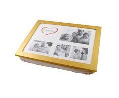 Knietablett mit Kissen und Fotorahmen P-108 gold