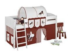 Lilokids IDA4106KW-PFERDE-BRAUN Kinderbett, Holz, pferd braun, 208 x 98 x 113 cm