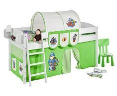 Lilokids IDA4105KW-PIRAT-GRUEN-S Kinderbett, Holz, pirat grün, 208 x 98 x 113 cm