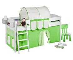 Lilokids IDA4105KW-GRUEN-BEIGE-S Kinderbett, Holz, grün / beige, 208 x 98 x 113 cm