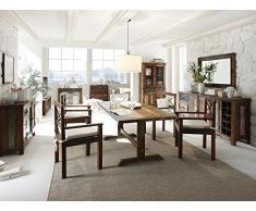 Massivum Cruzar Tischgruppe, Holz, braun, 90 x 180 x 78 cm