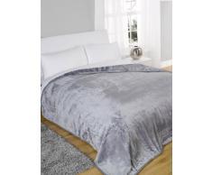 Luxus Kunstfell groß silber mink Fleece Überwurf über Sofa Bett Weiche Warme Decke, Silber, King - 200 x 240xm