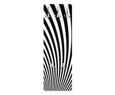 Apalis 79237 Wandgarderobe Optical Wave | Design Garderobe Garderobenpaneel Kleiderhaken Flurgarderobe Hakenleiste Holz Standgarderobe Hängegarderobe | 139x46cm