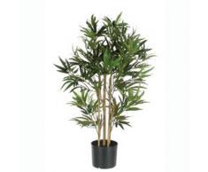 MICA Decorations 992252 Bambus im Kunststofftopf Kunstpflanze, Polyester, grün, 75 x 75 x 150 cm
