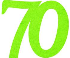 Petras Bastel News Streudeko, Fliz, apfelgrün, 18 x 12 x 3 cm