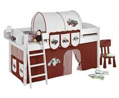 Lilokids IDA4105KW-TRECKER-BRAUN Kinderbett, Holz, trecker braun, 208 x 98 x 113 cm