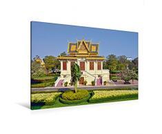 Premium Textil-Leinwand 120 x 80 cm Quer-Format Pavillon im Königspalast in Phnom Phen   Wandbild, HD-Bild auf Keilrahmen, Fertigbild auf hochwertigem Vlies, Leinwanddruck von Harry Müller