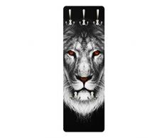 Apalis 78729 Wandgarderobe Dark Lion II | Design Garderobe Garderobenpaneel Kleiderhaken Flurgarderobe Hakenleiste Holz Standgarderobe Hängegarderobe | 139x46cm