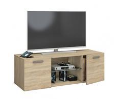 VCM TV Schrank Lowboard Tisch Board Fernseh Sideboard Wandschrank Wohnwand Holz Sonoma-eiche 40 x 115 x 36 cm Jusa
