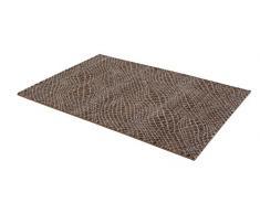 ASTRA 6872068151060 Webteppich Carpi, Polypropylen, gitter braun, 60 x 110 x 1,5 cm