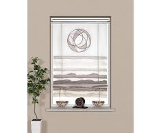 Startex Raffrollo, Polyester, Weiß/Grau, 60 x 135 cm