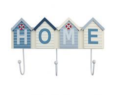 Holz Wandgarderobe Haken Strandhaus Home Nautisches 3Â Haken Seaside 16Â x 27Â cm gratis Post