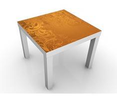 Apalis 46220-276825-855817 Design Tisch Goldener Barock, 55 x 55 x 45 cm, weiß