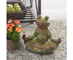 sunjoy grün Finish 30,5 cm Kleiner Frosch Garten Statue in Lotus Position
